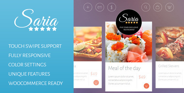 Saria Shop - Flat Responsive Wordpress Theme - WooCommerce eCommerce