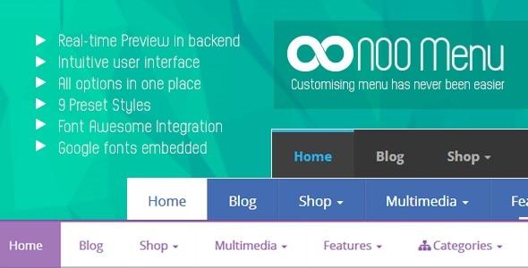 CodeCanyon NOO Menu WordPress Mega Menu Plugin 7873697