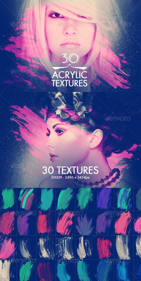 GraphicRiver 30 Acrylic Textures 7866405