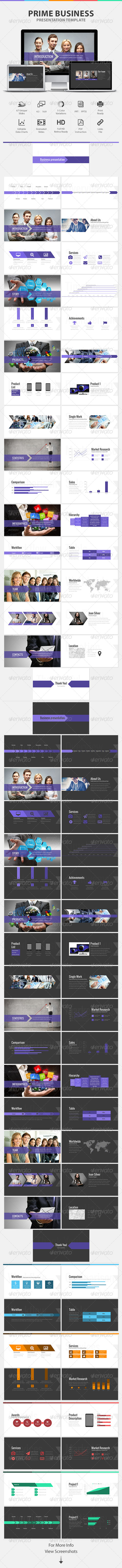 GraphicRiver Prime Business Presentation Powerpoint Template 7846399