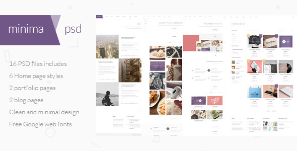 ThemeForest Minima Multipurpose PSD Template 7841348