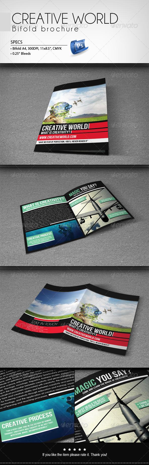 GraphicRiver Creative World Bifold Brochure 7872342