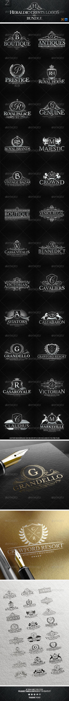 GraphicRiver 24 Heraldic Crest Logos Bundle 7874086