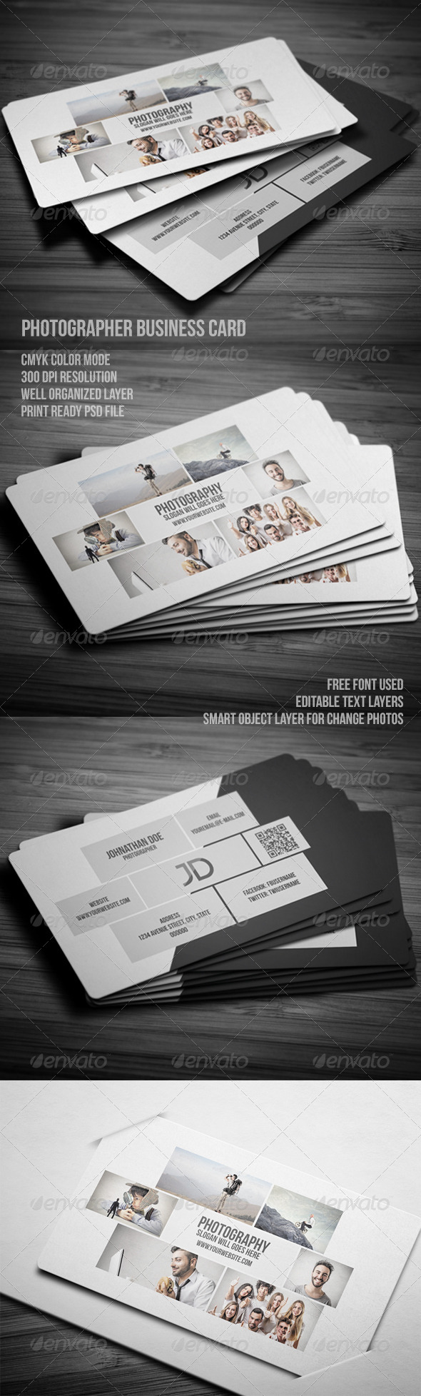 GraphicRiver Photographer Business Card Template 7874087