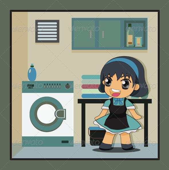 GraphicRiver Laundry 7874146