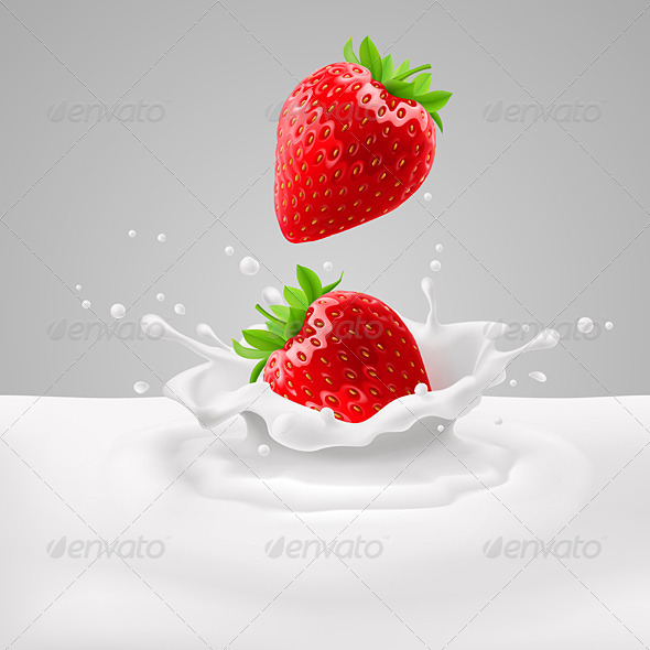 GraphicRiver Strawberries with Milk 7874233
