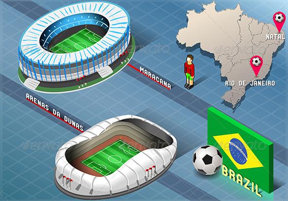 GraphicRiver Isometric Stadium of Natal and Rio De Janeiro 7874270