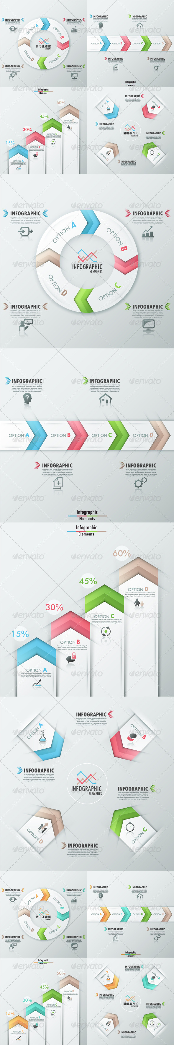 GraphicRiver Set of 4 Modern Infographic Templates 7865064