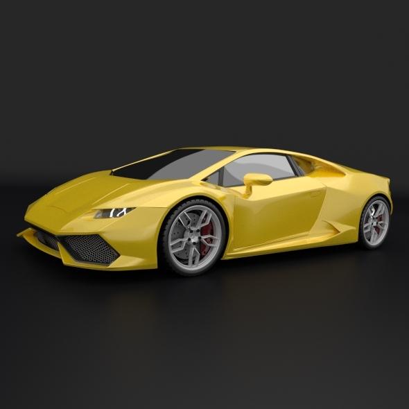 Lamborghini Huracan racing car restyled - 3DOcean Item for Sale