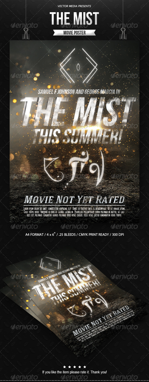 GraphicRiver The Mist Movie Poster 7874359