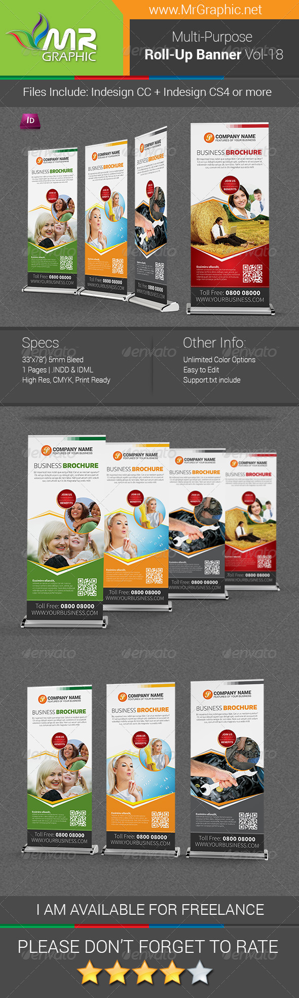 GraphicRiver Multipurpose Business Roll-Up Banner Vol-18 7874690
