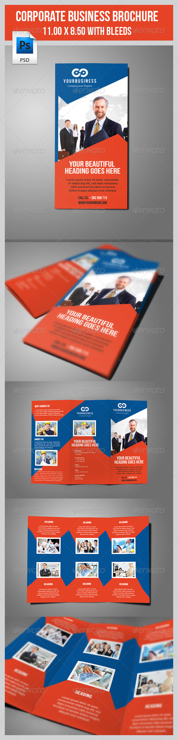 GraphicRiver Multipurpose Business Tri-Fold Template 7874763