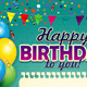 Happy Birthday with a Sheet of Vertical Paper  - GraphicRiver Item for Sale