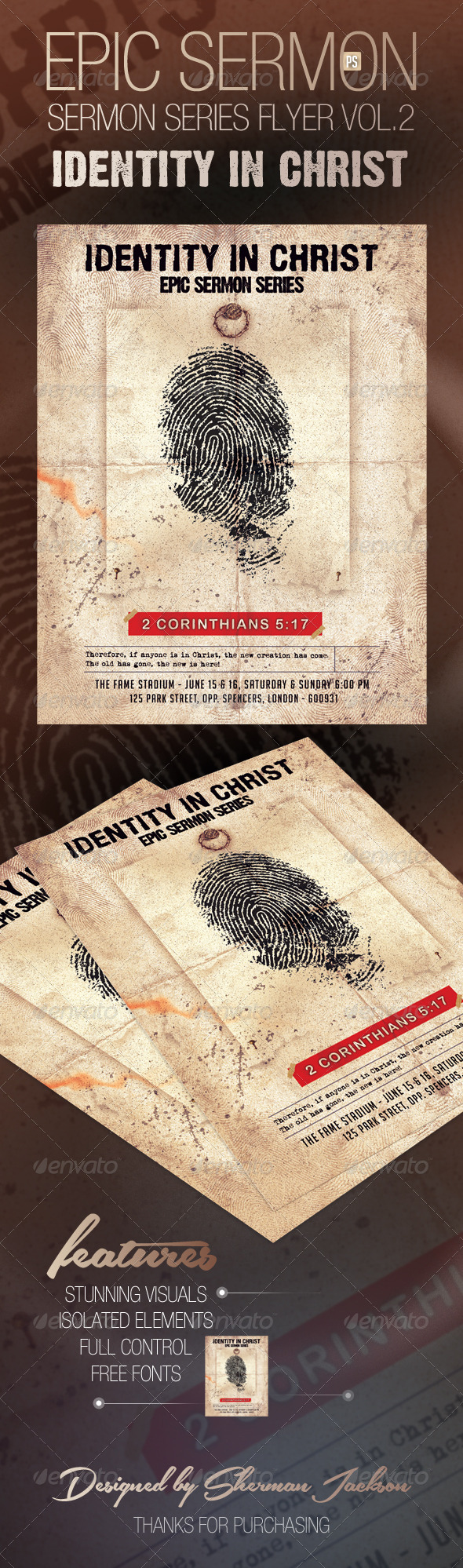 GraphicRiver Epic Sermon Series Flyer Vol.2 7874945