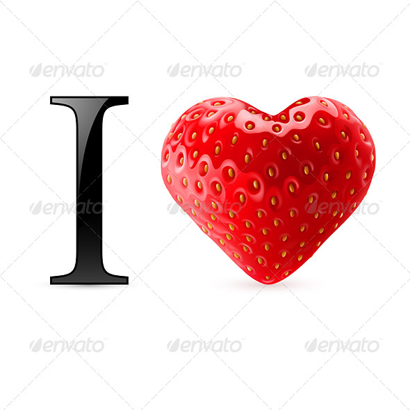 GraphicRiver I Love Strawberry 7875493