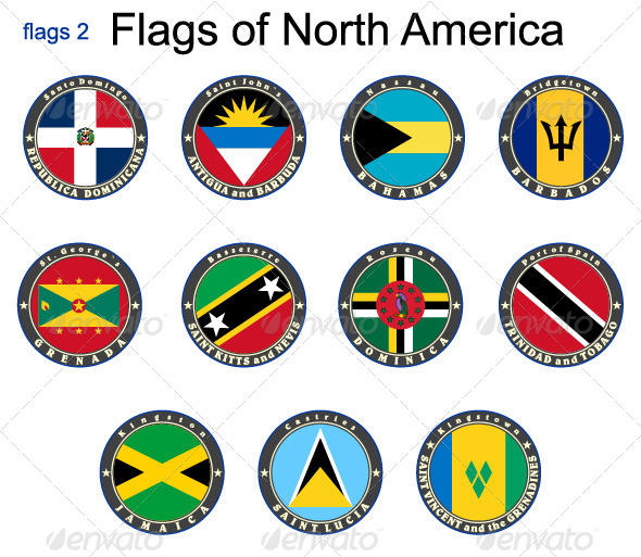 GraphicRiver Flags of North America 7875632