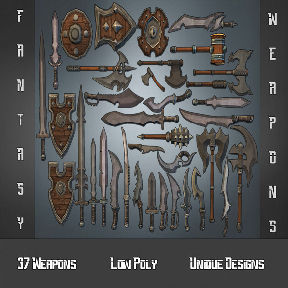 Fantasy Weapon Collection - 3DOcean Item for Sale