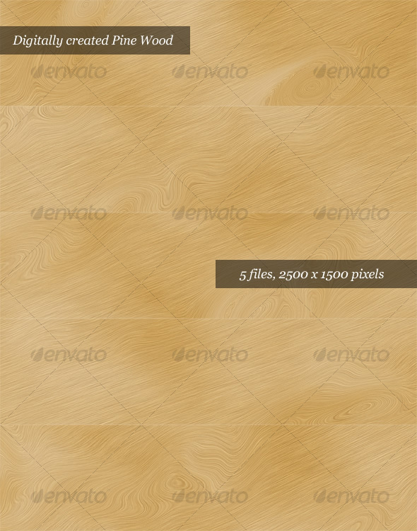 Digital Pine Wood Textures Pack of 5
