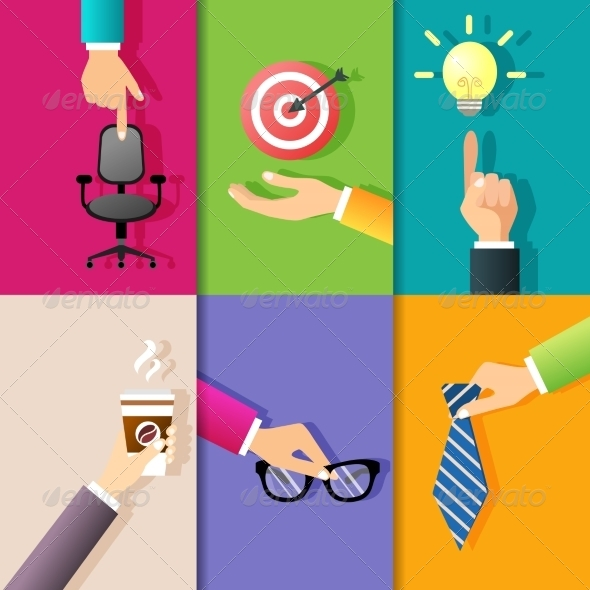 GraphicRiver Business Hands Icons 7875922