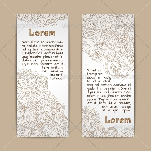 GraphicRiver Ornamental Banners Vertical 7875934