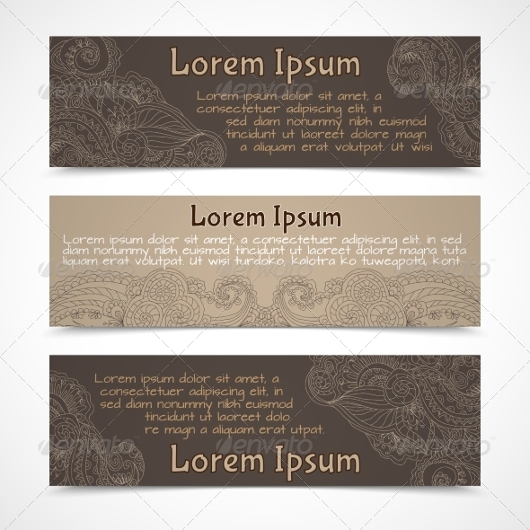 GraphicRiver Ornamental Banners Horizontal 7875936
