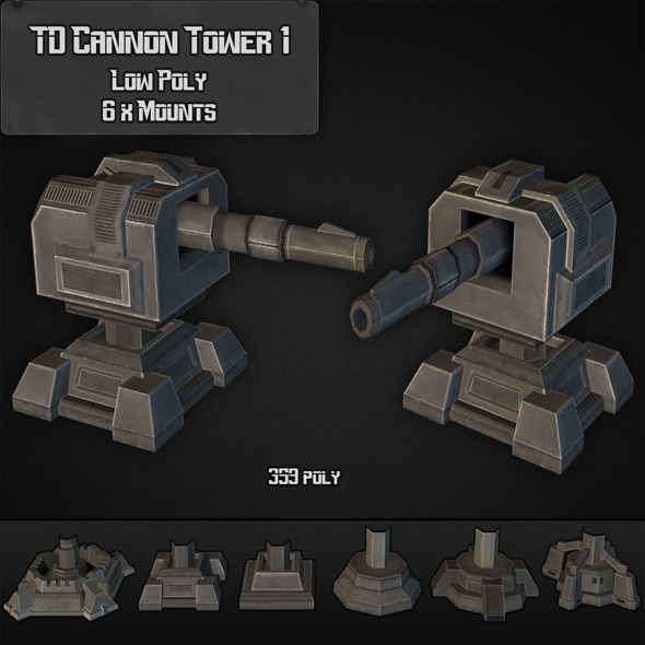 3DOcean TD Cannon Tower 01 7875951