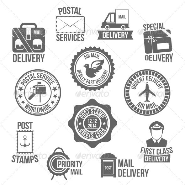 GraphicRiver Post Service Label 7875957
