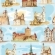 Old City Sketch Seamless Pattern - GraphicRiver Item for Sale