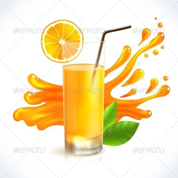 GraphicRiver Orange Juice Splash 7875983