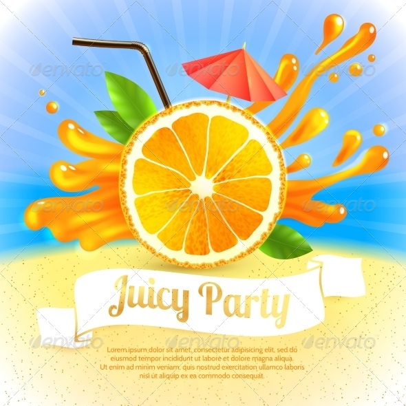 GraphicRiver Orange Juice Party 7875984