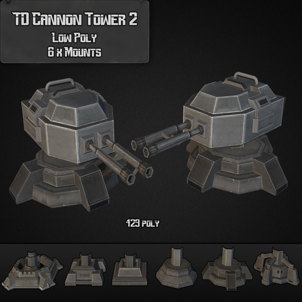 TD Cannon Tower 02 - 3DOcean Item for Sale
