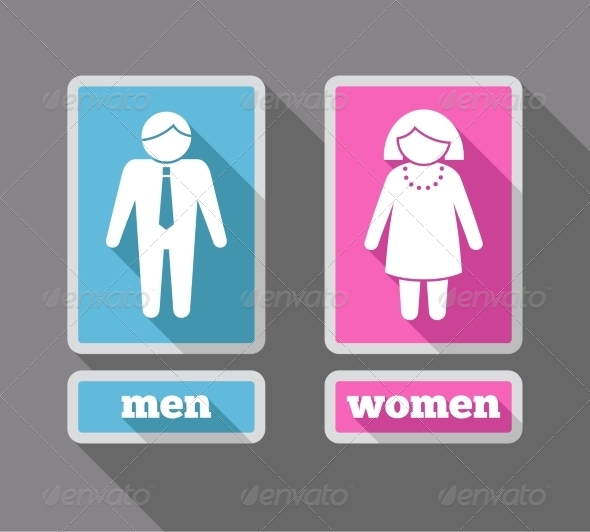 GraphicRiver Women and Men Icons Set Colored 7875988