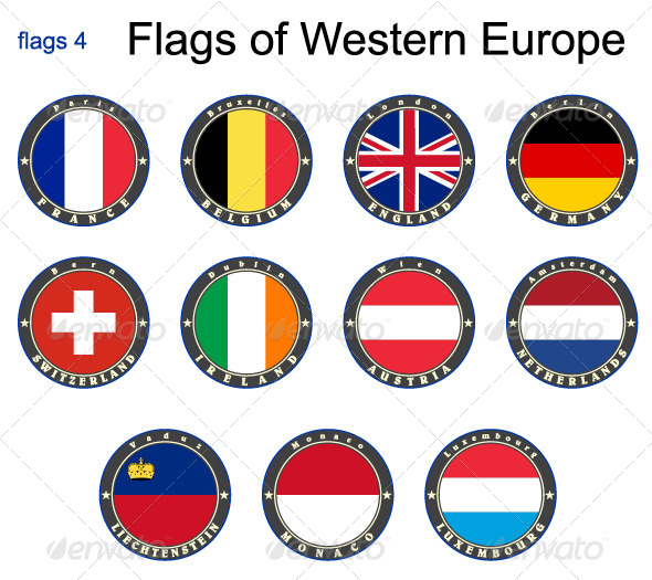 GraphicRiver Flags of Western Europe 7875994