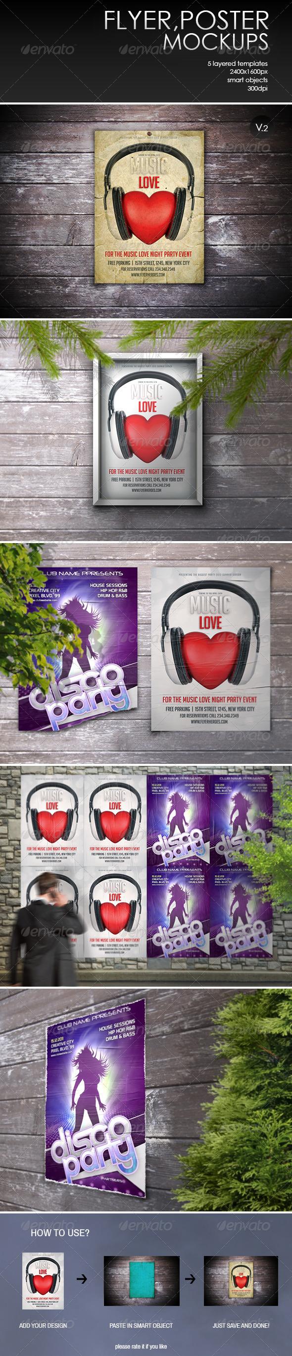 GraphicRiver Flyer Poster Mockup-Vol.2 7876003