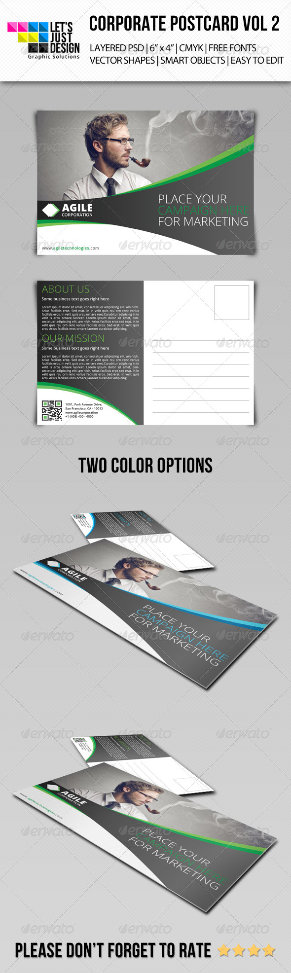 GraphicRiver Corporate Postcard Template Vol 2 7876024