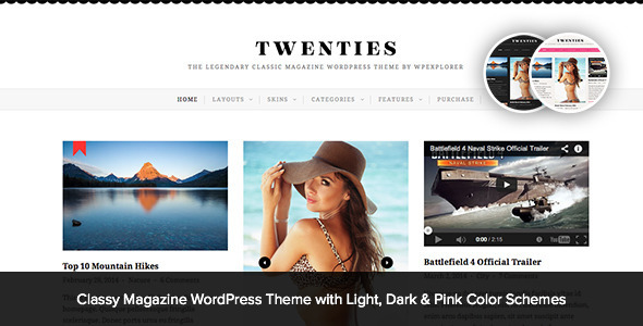 ThemeForest Twenties Clean Responsive Blog WordPress Theme 7876029