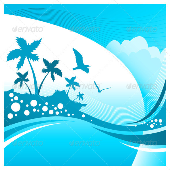 GraphicRiver Summer Tropical Background 7876224
