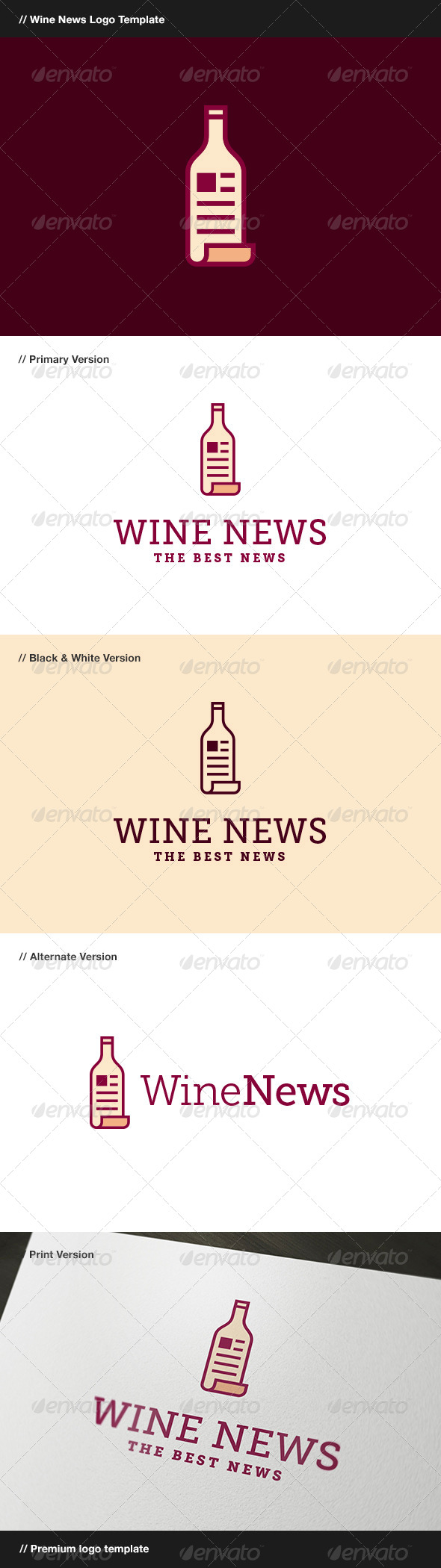 GraphicRiver Wine News 7877039