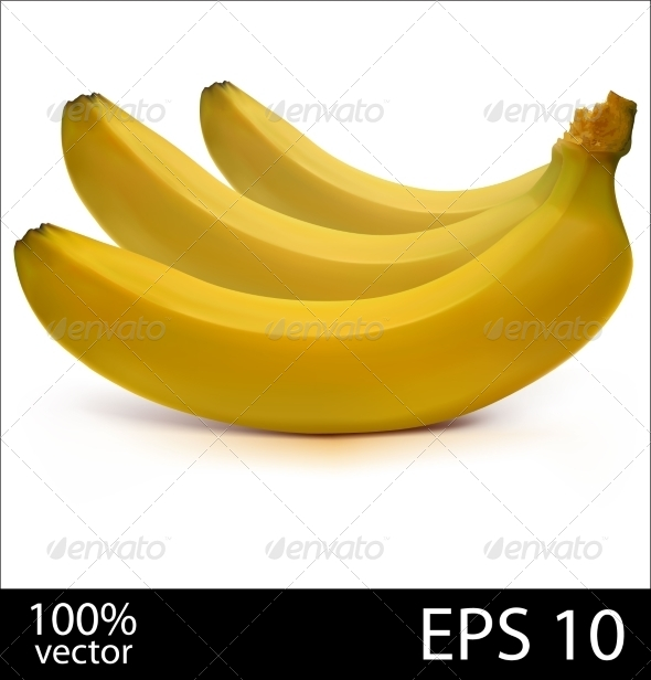 GraphicRiver Three Bananas in Bunch 7877789