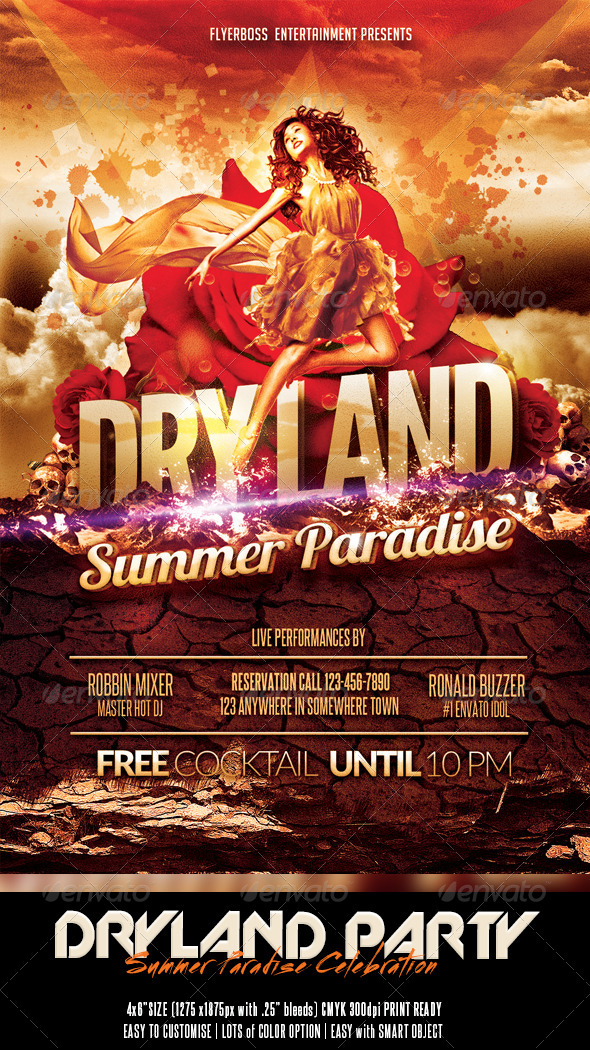 GraphicRiver Dryland Summer Paradise 7877878