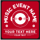 Music Event T-Shirt - GraphicRiver Item for Sale