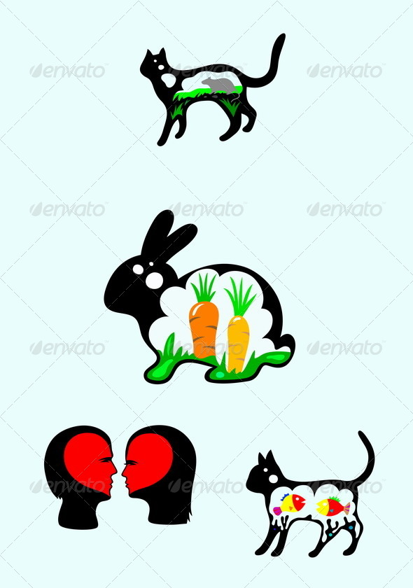 GraphicRiver Rabbit and Cat 7877959