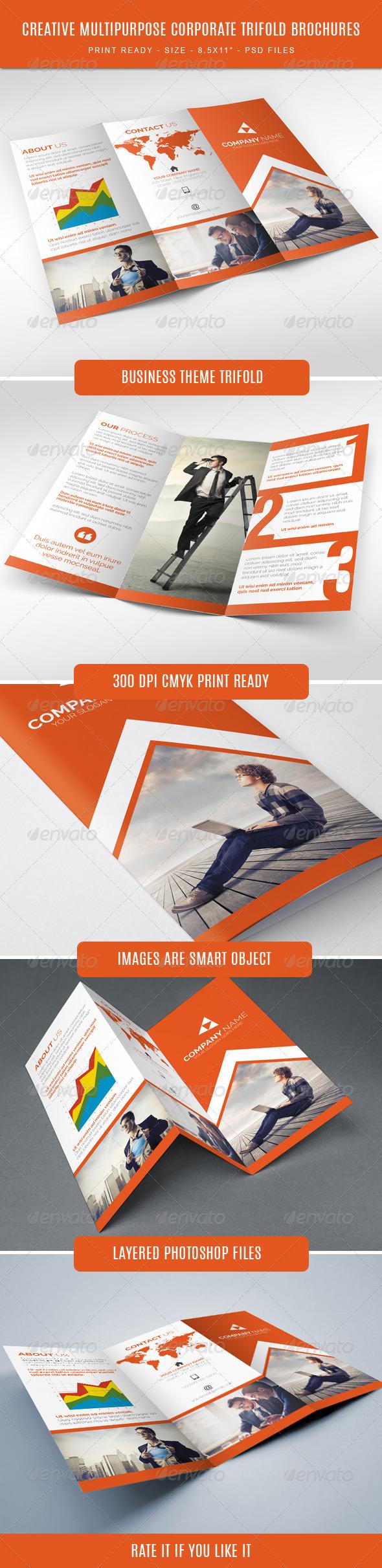 GraphicRiver Creative Corporate Tri-Fold Brochure 7877981