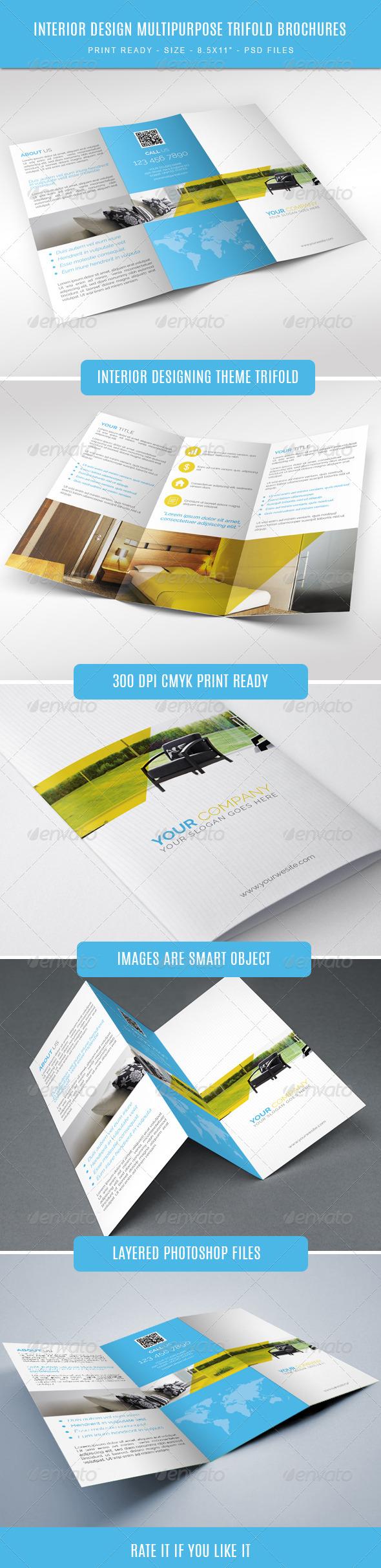 GraphicRiver Interior Designing Tri-Fold Brochure 7878030