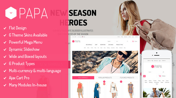 SM Papa - Responsive Fashion Theme for Magento - Fashion Magento