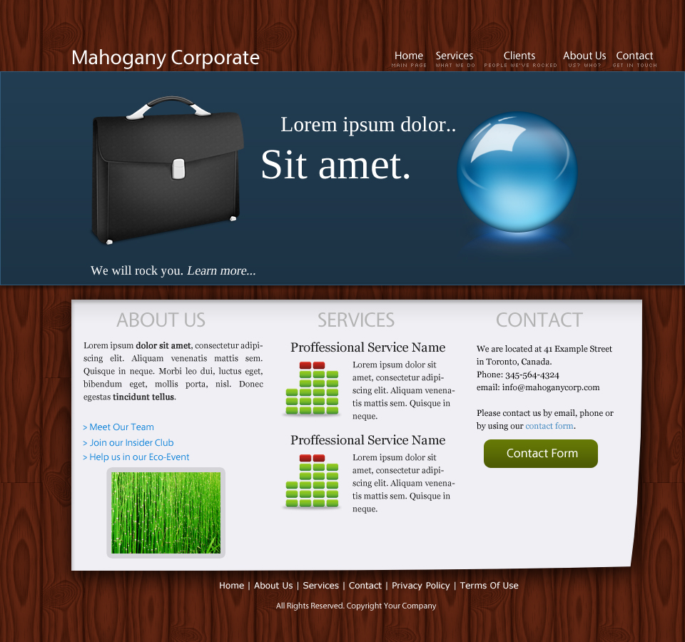 Mahogany Corporate Layout