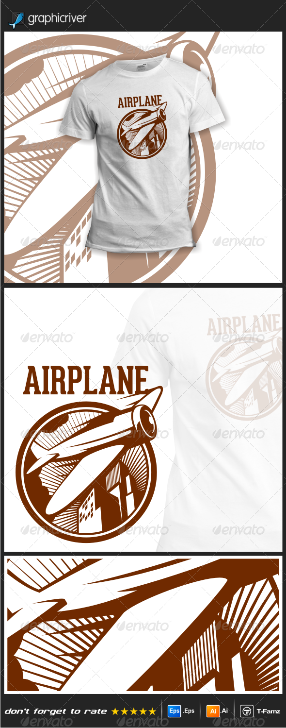 GraphicRiver Airplane T-Shirts 7812709