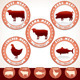 Meat Labels. Pork, Beef, Chicken, Lamb, Tuna - GraphicRiver Item for Sale