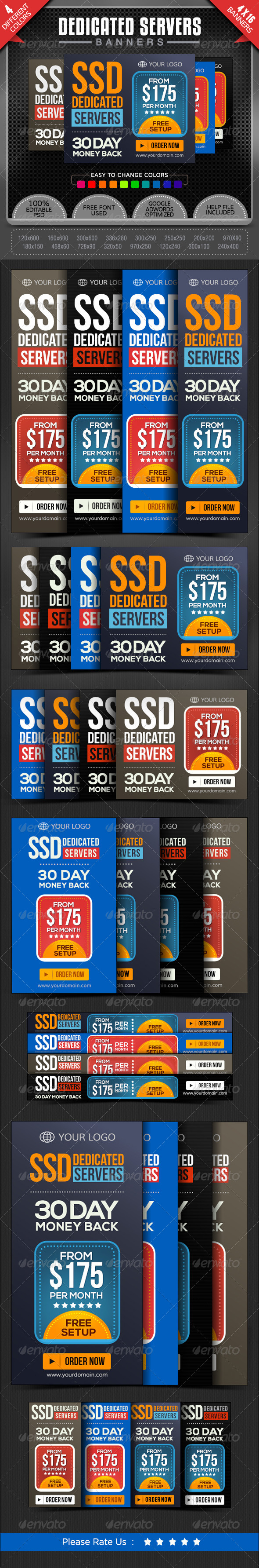 GraphicRiver Dedicated Server Banners 7878736