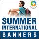 Summer Exchange Program Banners - GraphicRiver Item for Sale